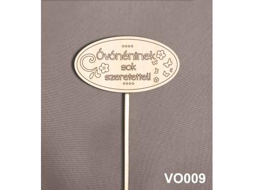 (VO009) Virág dekoráció 43 cm - Óvónéninek sok szeretettel – Kreatív hobby naturfa