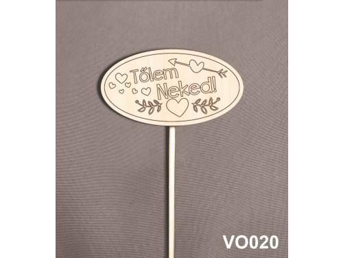 (VO020) Virág dekoráció 43 cm - Tőlem Neked – Kreatív hobby naturfa