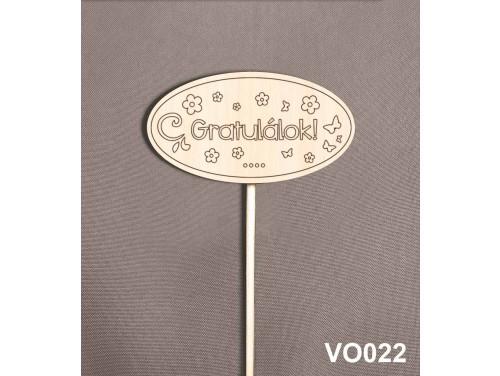 (VO022) Virág dekoráció 43 cm - Gratulálok – Kreatív hobby naturfa