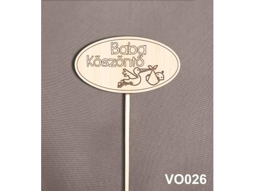 (VO026) Virág dekoráció 43 cm - Baba köszöntő – Kreatív hobby naturfa
