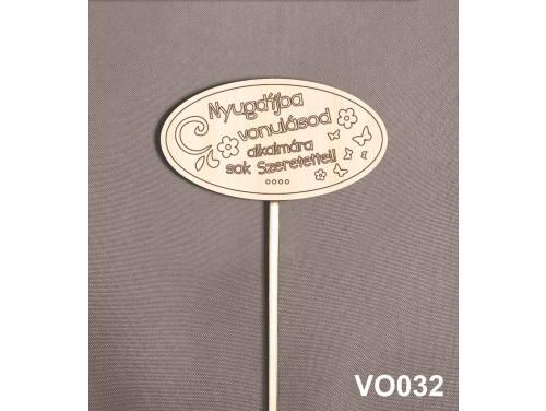 (VO032) Virág dekoráció 43 cm - Nyugdíjba vonulás – Kreatív hobby naturfa termék