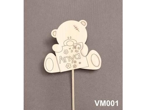 (VM001) Virág dekoráció 43 cm - Anya  – Anyák napi ajándék - Kreatív hobby naturfa – Ajándék Anyáknak