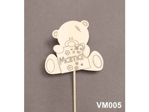 (VM005) Virág dekoráció 43 cm - Mama – Kreatív hobby naturfa - Ajándék Nagymamáknak