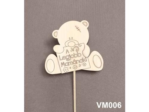 (VM006) Virág dekoráció 43 cm - A Legjobb Mama – Kreatív hobby naturfa - Ajándék Nagymamáknak