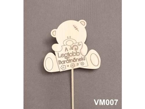 (VM007) Virág dekoráció 43 cm - A legjobb barátnőnek –  Kreatív hobby naturfa
