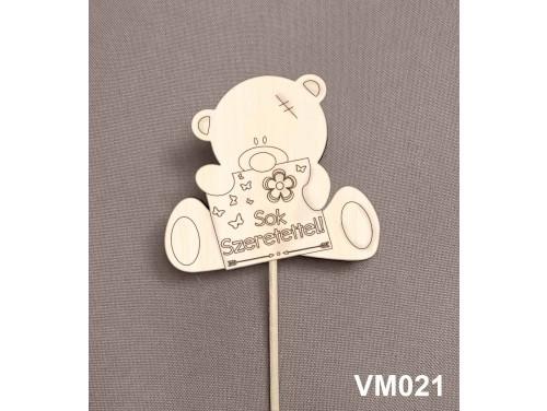 (VM021) Virág dekoráció 43 cm - Sok szerettel – Kreatív hobby naturfa