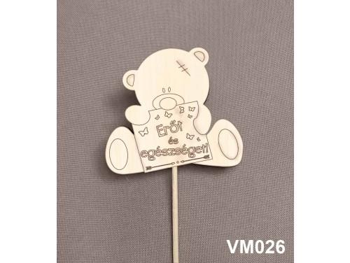 (VM026) Virág dekoráció 43 cm - Erőt és egészséget – Kreatív hobby naturfa