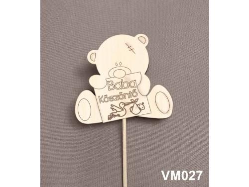 (VM027) Virág dekoráció 43 cm - Baba köszöntő – Kreatív hobby naturfa