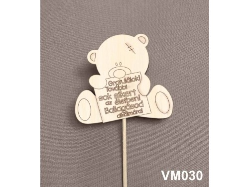 (VM030) Virág dekoráció 43 cm - További sok sikert – Kreatív hobby naturfa