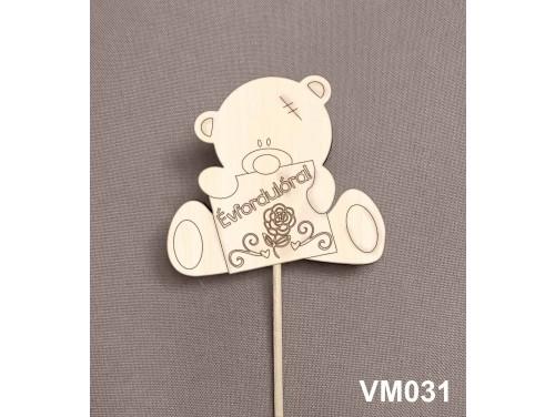 (VM031) Virág dekoráció 43 cm - Évfordulóra – Kreatív hobby naturfa
