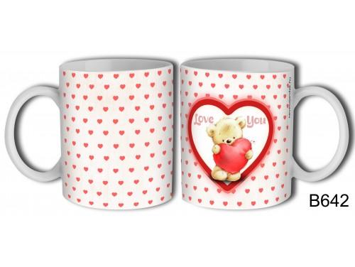 (B642) Bögre 3 dl - Love You Macis – Évfordulós Ajándék – Valentin napi ajándék