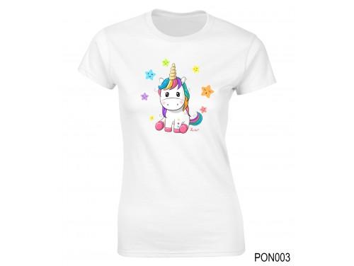 (PON003) Női póló - Pici Unikornis –  Ajándék Ötletek Nőknek