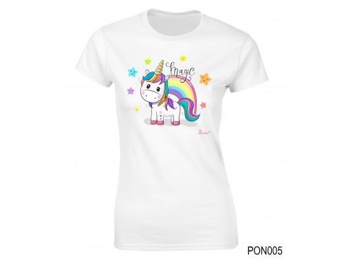 (PON005) Női póló - Magic Unikornis – Ajándék Ötletek Nőknek