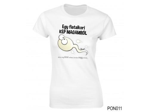 (PON011) Női póló - Fiatalkori kép magamról – Ajándék Ötletek Nőknek