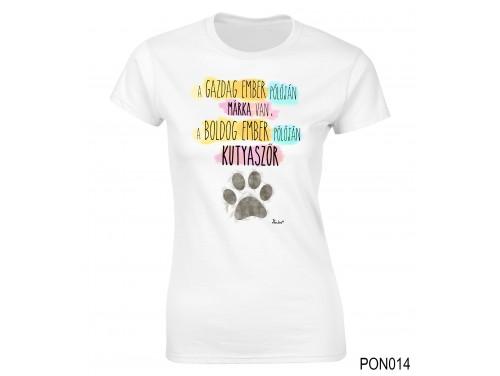 (PON014) Női póló - Boldog Ember – Ajándék Ötletek Nőknek