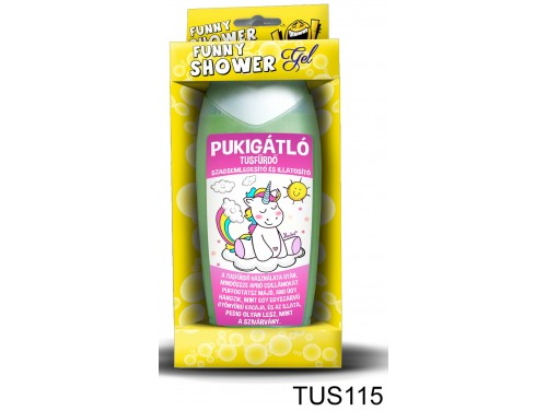 (TUS115) Tusfürdő 300 ml - Pukigátlós tusfürdő – Vicces ajándék