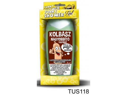 (TUS118) Tusfürdő 300 ml - Kolbász nagyobbító – Vicces ajándék