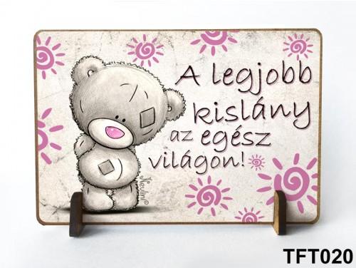 (TFT020) Kis fa tábla 11 cm x 7,5 cm - Legjobb kislány – Ajándék kislánynak