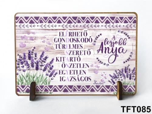 (TFT085) Kis fa tábla 11 cm x 7,5 cm - Édesanya  – Ajándék anyáknak - Anyák napi ajándék