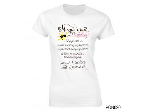 (PON020) Női póló - Nagymama Konyhája – Nagymamának ajándékok