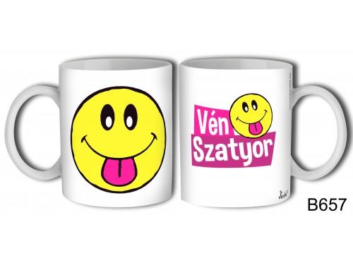 (B657) Bögre 3 dl - Vén Szatyor – Vicces ajándék