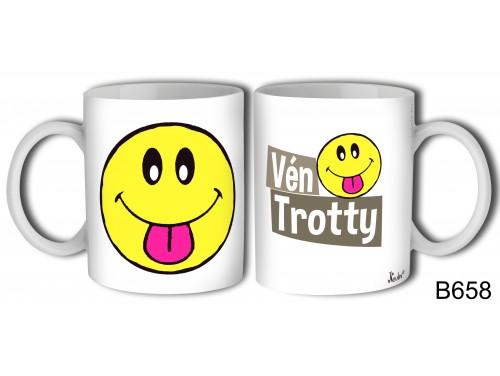 (B658) Bögre 3 dl - Vén Trotty – Vicces ajándék