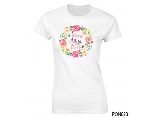 (PON023) Női póló - Feleség Anya Főnök – Ajándék Anyáknak– Anyák napi ajándék