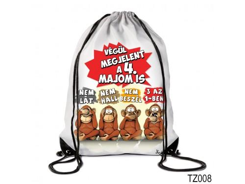 (TZ008) Hátizsák 44 cm x 34 cm - Negyedik majom – Vicces ajándék ötletek