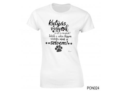 (PON024) Női póló - Kutyás vagyok – Kutyás Ajándék