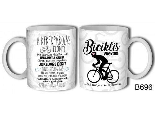 (B696) Bögre 3 dl - Biciklis vagyok – Biciklis Ajándék Ötletek