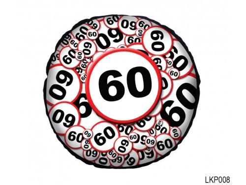 (LKP008) Kör Párna 25 cm - Boldog 60. Születésnapot- Születésnapi ajándék