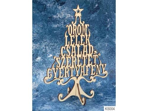 (KS004) Dekor Karácsonyfa 21cm x 15 cm - Öröm Lélek – Karácsonyi asztali dekoróció