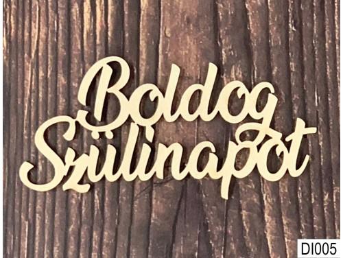 (DI005) Fa Dísz Feliratok 10 -11cm x 3 cm - Boldog Szülinapot - Kreatív hobby naturfa termék