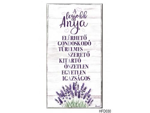 (HFD030) Hűtőmágnes Fa Dekor Tábla 7,5 cm x 14cm - A legjobb anya - Ajándék anyukáknak - Anyák Napi Ajándékok