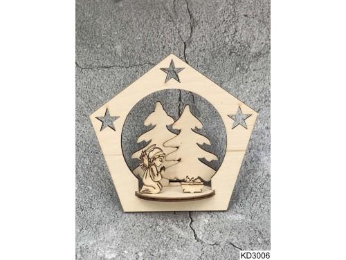 (KD3006) 3D Karácsonyfa dísz - Angyal – Karácsonyi ajándékok
