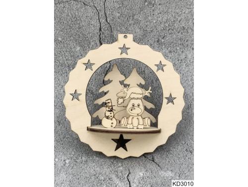 (KD3010) 3D Karácsonyfa dísz - Rudolf és hóember – Karácsonyi ajándékok
