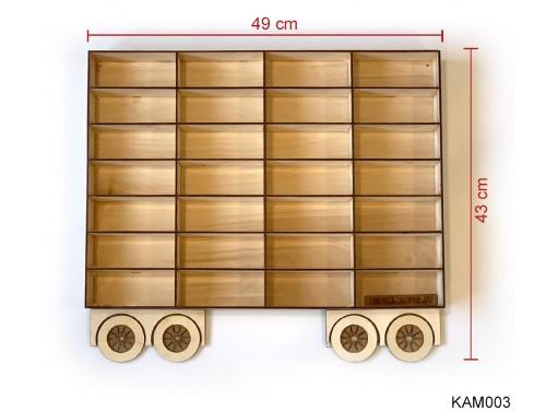 (KAM003) Natur Pótkocsi Kamionhoz - Kisautó Tároló Kamion - Ajándék gyerekeknek