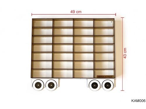 (KAM006) Fehér Pótkocsi Kamionhoz - Kisautó Tároló Kamion- Ajándék gyerekeknek