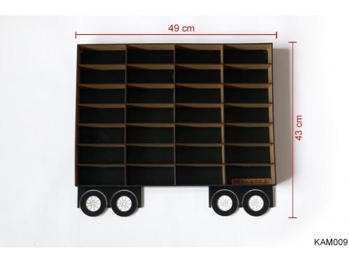(KAM009) Fekete Pótkocsi Kamionhoz - Kisautó Tároló Kamion - Ajándék gyerekeknek