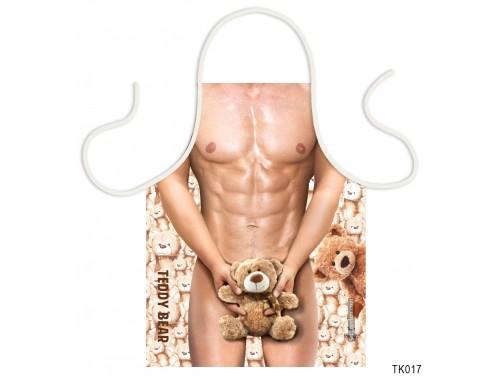 (TK017) Teli mintás kötény 50 cm x 70 cm - Teddy Bear – Szexi Kötény Férfiaknak