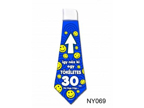 (NY069) Nyakkendő 37x13 cm - Tökéletes 30-as Szülinapos – Szülinapi ajándék ötletek
