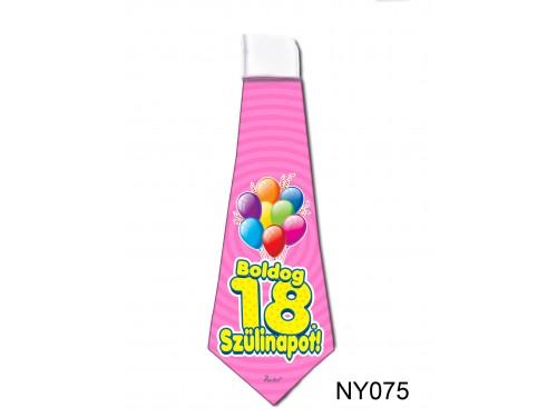 (NY075) Nyakkendő 37x13 cm - Boldog 18. Szülinapot – Szülinapi ajándék ötletek
