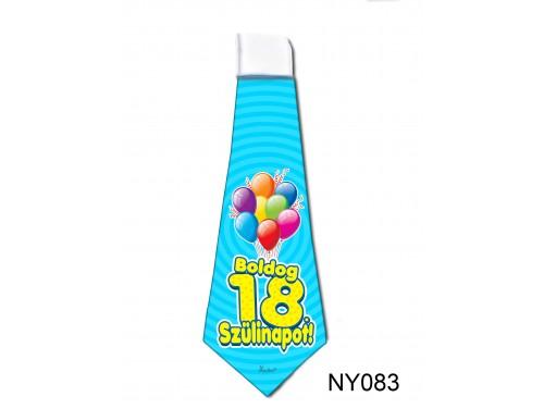 (NY083) Nyakkendő 37x13 cm - Boldog 18. Szülinapot – Szülinapi ajándék ötletek