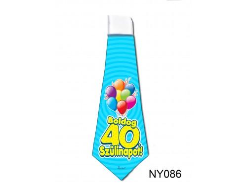 (NY086) Nyakkendő 37x13 cm - Boldog 40. Szülinapot – Szülinapi ajándék ötletek