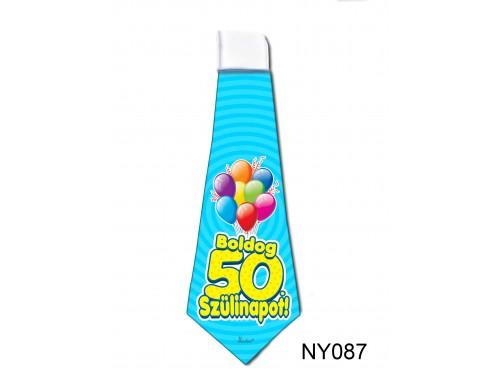 (NY087) Nyakkendő 37x13 cm - Boldog 50. Szülinapot – Szülinapi ajándék ötletek