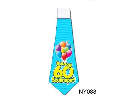 (NY088) Nyakkendő 37x13 cm - Boldog 60. Szülinapot – Szülinapi ajándék ötletek