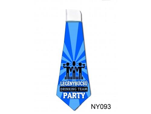 (NY093) Nyakkendő 37x13 cm - Legénybúcsú DRINKING TEAM - Legénybúcsús Ajándékok