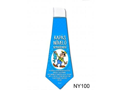 (NY100) Nyakkendő 37x13 cm - Kapás növelő – Horgásznak ajándék