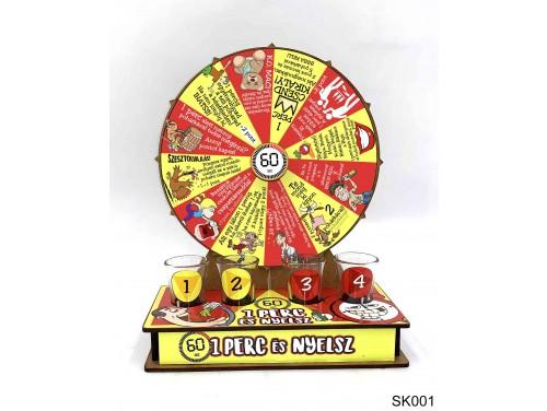 (SK001) Szerencsekerék Ivós Társasjáték – 1 perc és nyelsz – Alkoholos Társasjáték