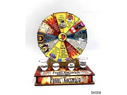 (SK008) Szerencsekerék Ivós Társasjáték – Pokol Kocsmája – Alkoholos Társasjáték